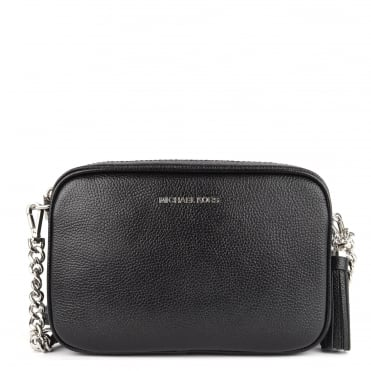 Ginny Black With Silver Hardware Medium Camera Bag