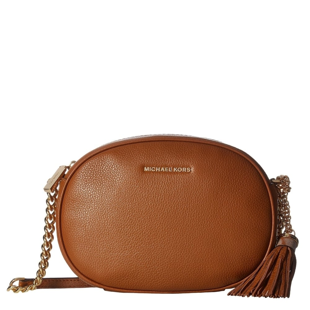 aaf1ff23c8ee MICHAEL by Michael Kors Ginny Luggage 'Tan' Medium Crossbody