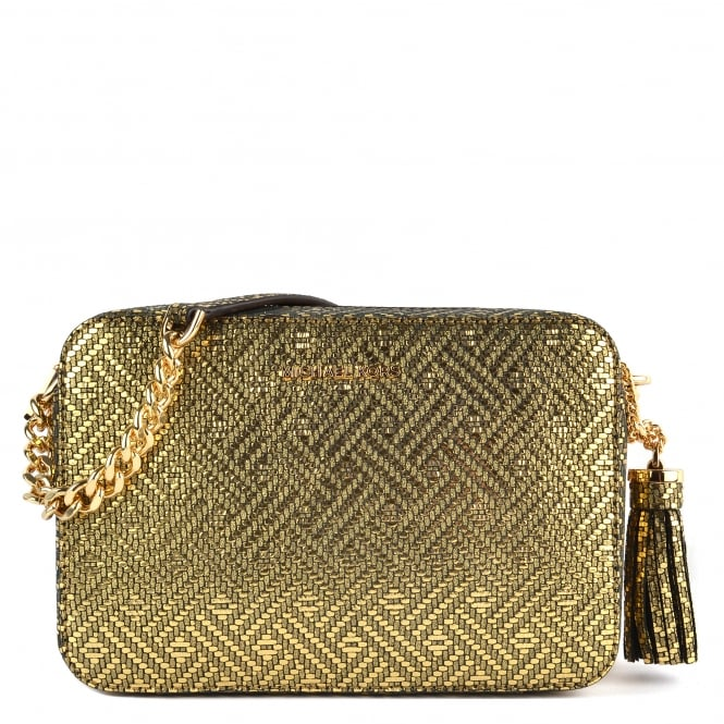 MICHAEL by Michael Kors Ginny Metallic Gold Medium Camera Bag