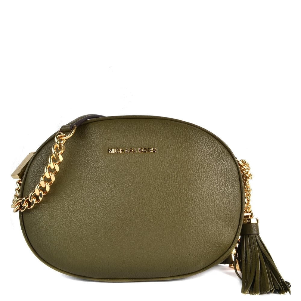 fd7f8b61e354 MICHAEL by Michael Kors Ginny Olive Medium Crossbody