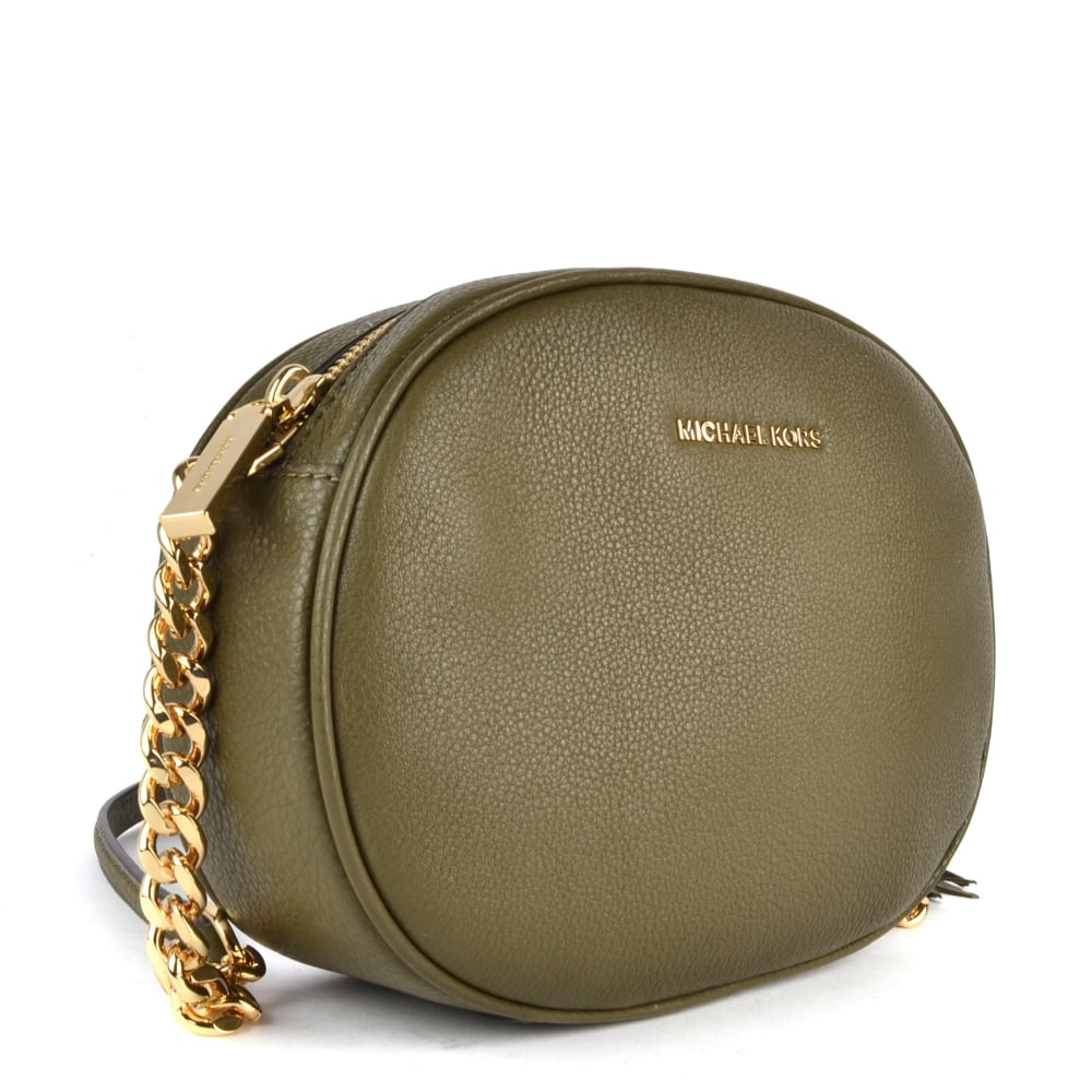 40c5d26e5568 MICHAEL MICHAEL KORS Ginny Olive Medium Crossbody