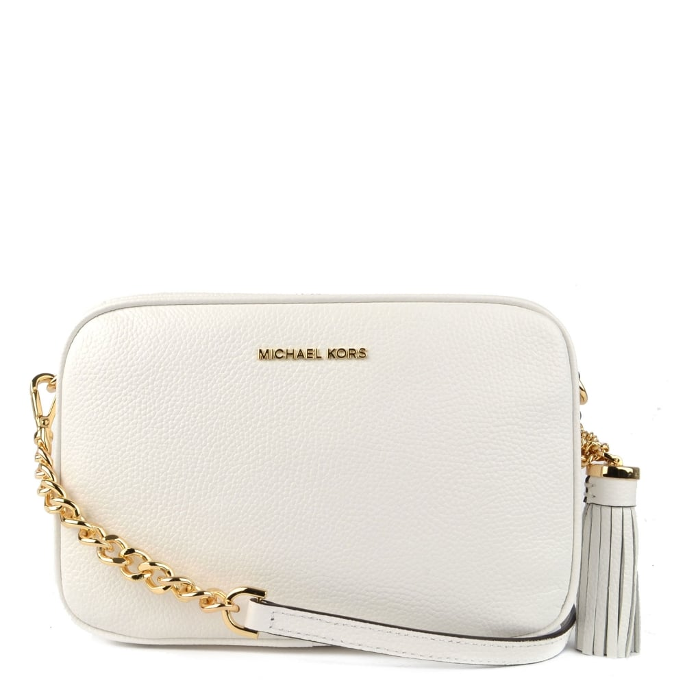 bb99428cb2ef2f MICHAEL by Michael Kors Ginny Optic White Medium Camera Bag