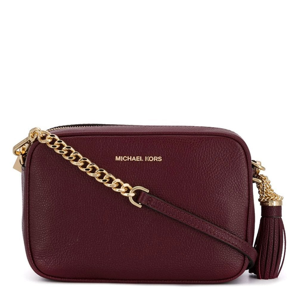338b79fd30da MICHAEL by Michael Kors Ginny Oxblood Medium Camera Bag