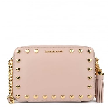 Ginny Soft Pink Studded Camera Bag