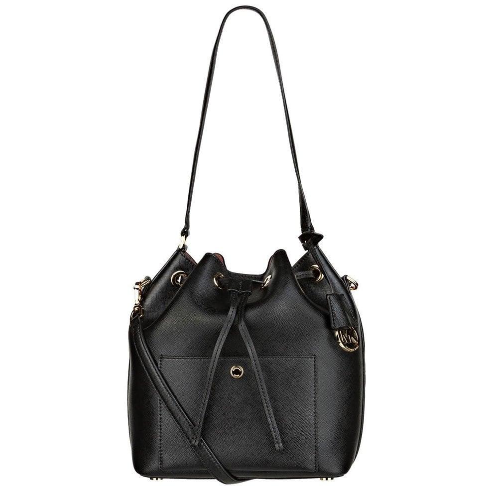 a75955ae4ad9 MICHAEL by Michael Kors Greenwich Black Large Bucket Bag