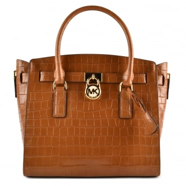 Hamilton Acorn Embossed Leather Satchel