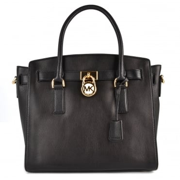 Hamilton Black Leather Large Satchel