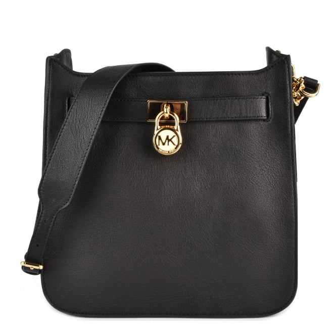 MICHAEL by Michael Kors Hamilton Black Medium Messenger