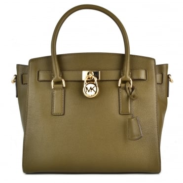 Hamilton Olive Leather Large Satchel
