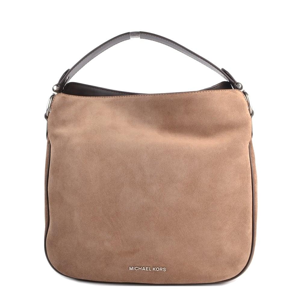 7a1e4ce698 MICHAEL by Michael Kors Heidi Dark Dune  Beige  Medium Convertible Shoulder  Bag