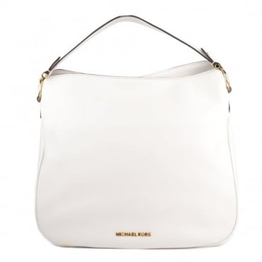 Heidi Optic White Medium Shoulder Bag