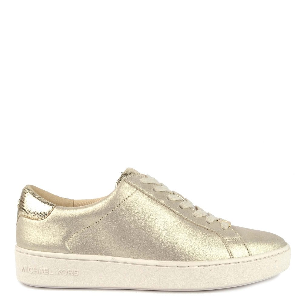 590fa5028750 MICHAEL by Michael Kors Irving Metallic Champagne Suede Trainer