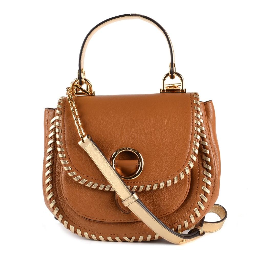 2f8b4bbe148a MICHAEL by Michael Kors Isadore Medium Acorn Leather Messenger Bag