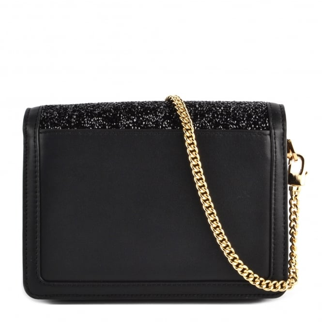 616e4629aad8 MICHAEL MICHAEL KORS Jade Black Embellished Medium Leather Clutch Bag
