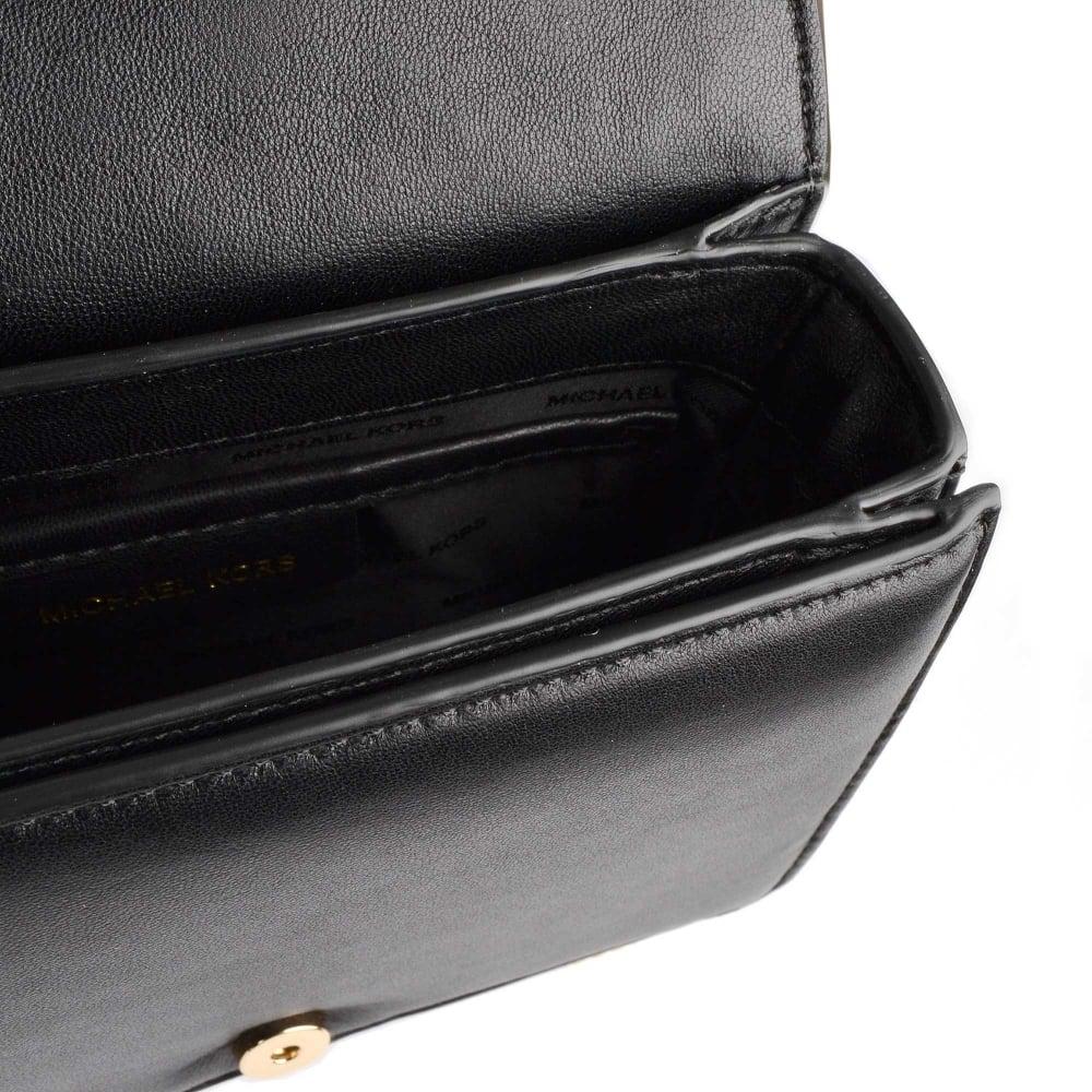 37acec6b207565 MICHAEL MICHAEL KORS Jade Black Medium Leather Clutch Bag