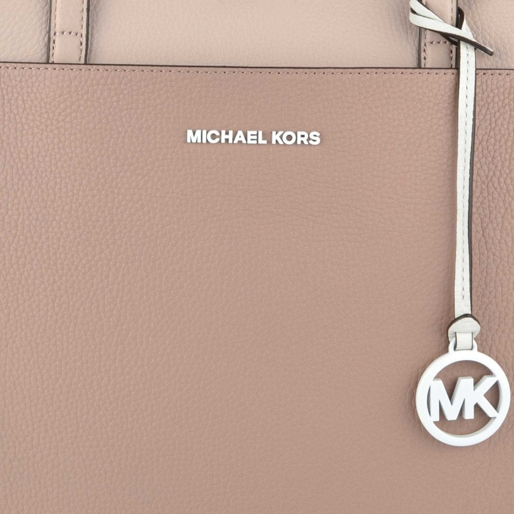7e39ca2f8092 MICHAEL MICHAEL KORS Jemma Tri-Colour Pebbled Leather Pocket Tote