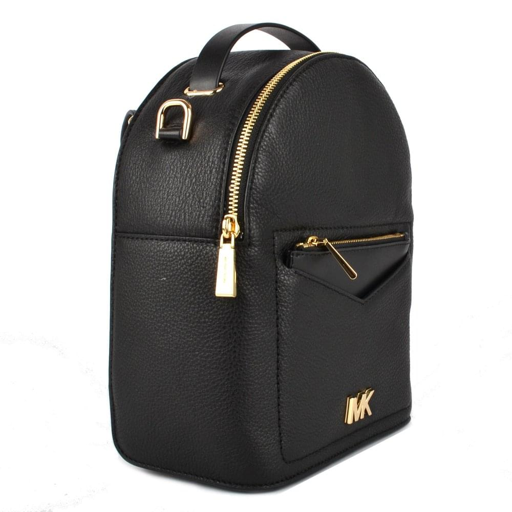 767dc93d73ad MICHAEL MICHAEL KORS Jessa Black Small Convertible Backpack