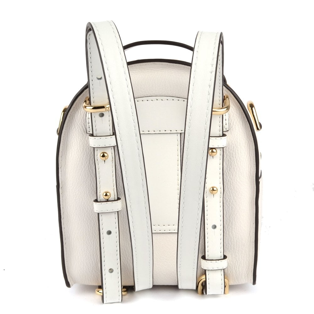 ff4cf3298c9bbf MICHAEL MICHAEL KORS Jessa Extra Small Optic White Convertible Backpack
