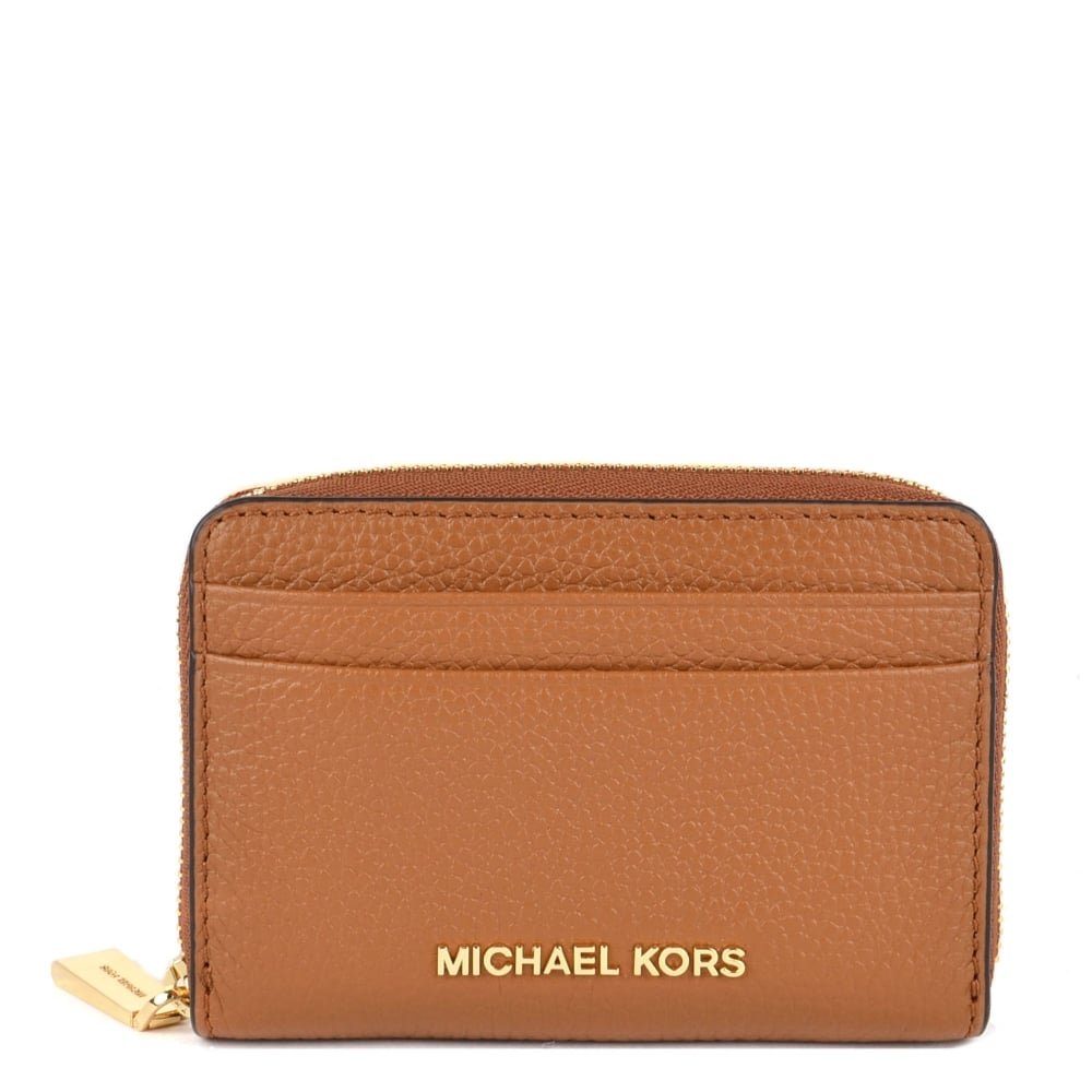 b06a9bebb2b7 MICHAEL by Michael Kors Jet Set Acorn Zip Around Card Case