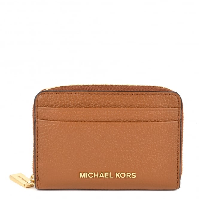 MICHAEL by Michael Kors Jet Set Acorn Zip Around Card Case