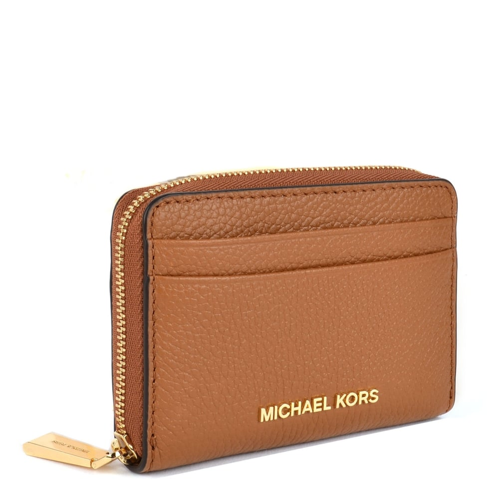 56ca5cfbaef7 MICHAEL MICHAEL KORS Jet Set Acorn Zip Around Card Case