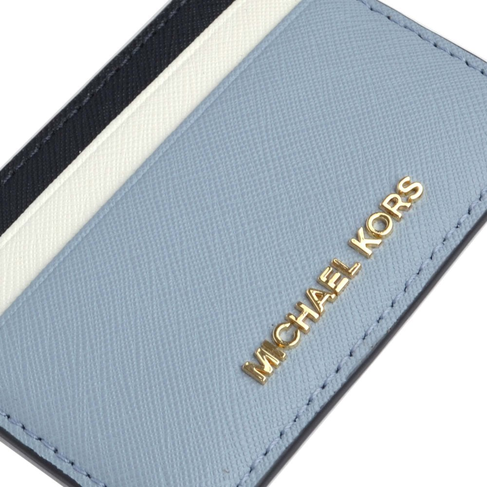 b3b31d01aef6 MICHAEL Michael Kors Jet Set Blue Leather Card Holder