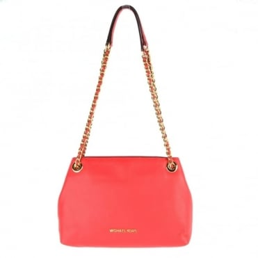 Jet Set Chain Coral Medium Messenger Bag