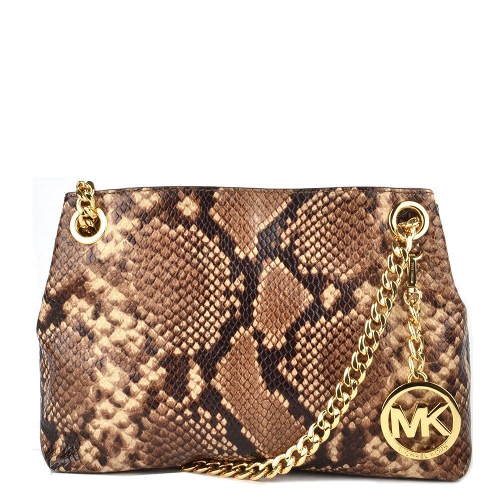 8abb9cd76113 MICHAEL by Michael Kors Jet Set Chain Python Shoulder Bag - Women ...