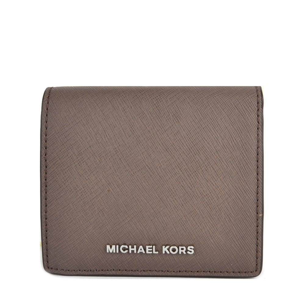 cf51addde324 MICHAEL by Michael Kors Jet Set Cinder  Brown  Carryall Card Case