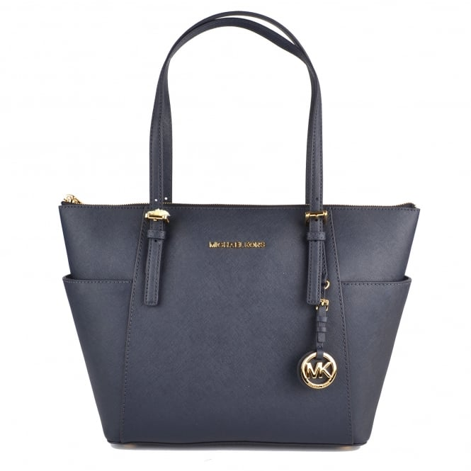 MICHAEL by Michael Kors Jet Set Item Admiral 'Navy' Saffiano Top Zip Tote