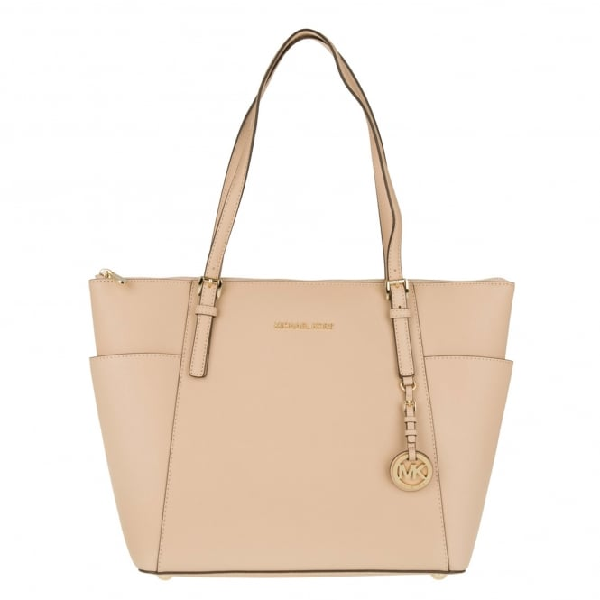 MICHAEL by Michael Kors Jet Set Item Oyster Saffiano Top Zip Tote
