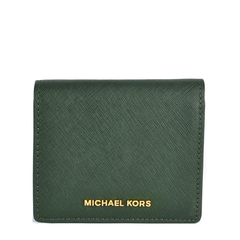 michael michael kors jet set moss 39 green 39 carryall card case. Black Bedroom Furniture Sets. Home Design Ideas