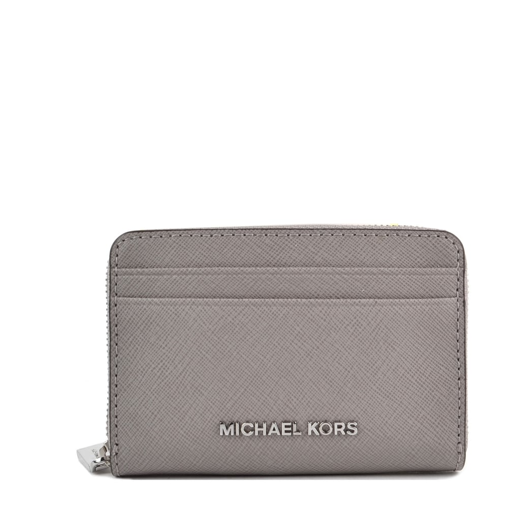ccb88177a88d30 MICHAEL by Michael Kors Jet Set Pearl Grey Zip Around Card Case