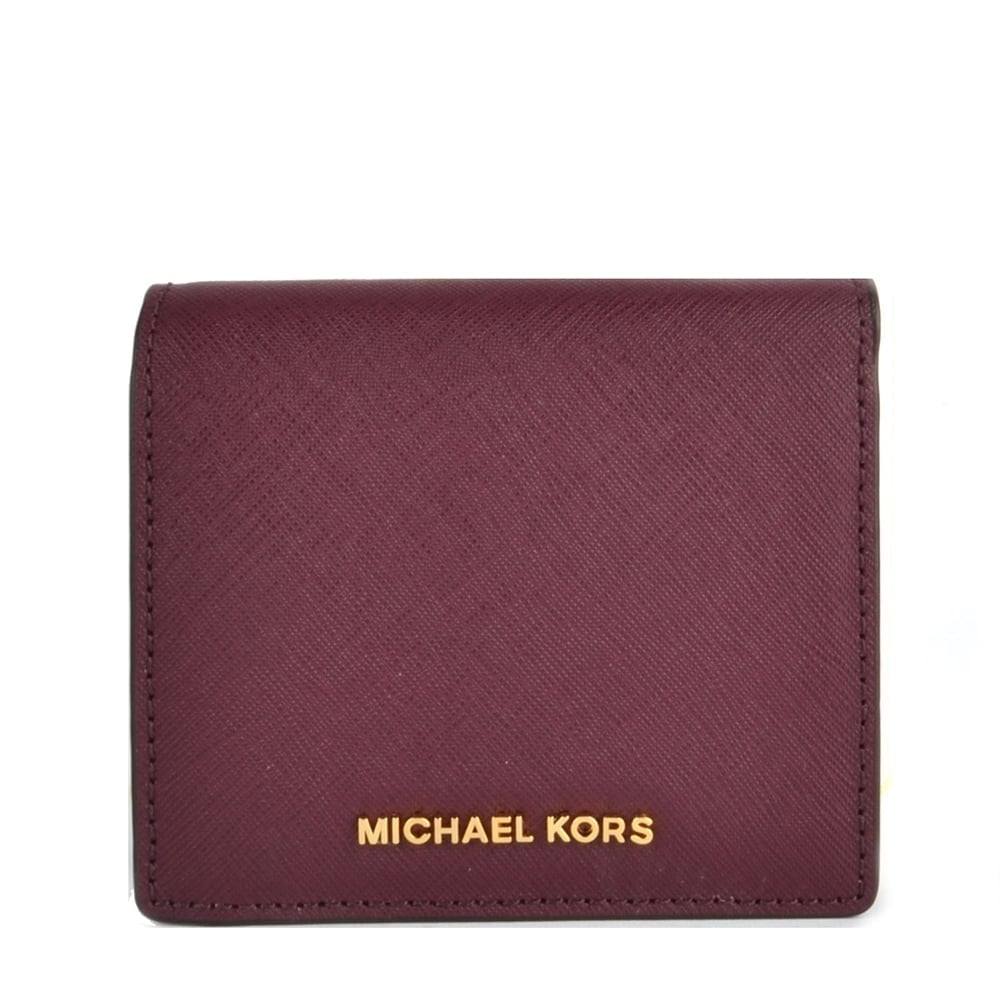 52d42682eded41 MICHAEL by Michael Kors Jet Set Plum 'Purple' Carryall Card case