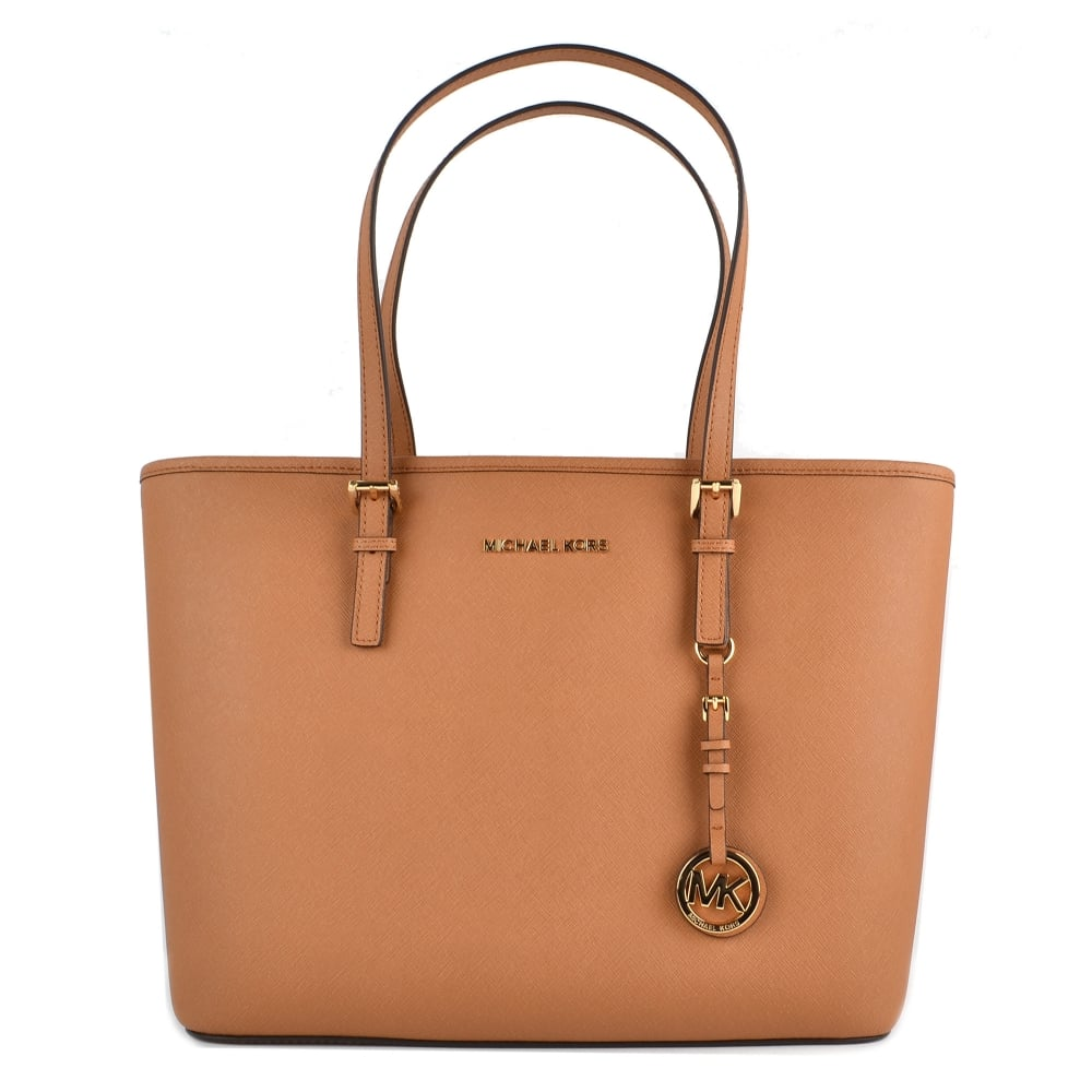 Michael Kors Tote Bag On Sale, Acorn, Leather, 2017, one size