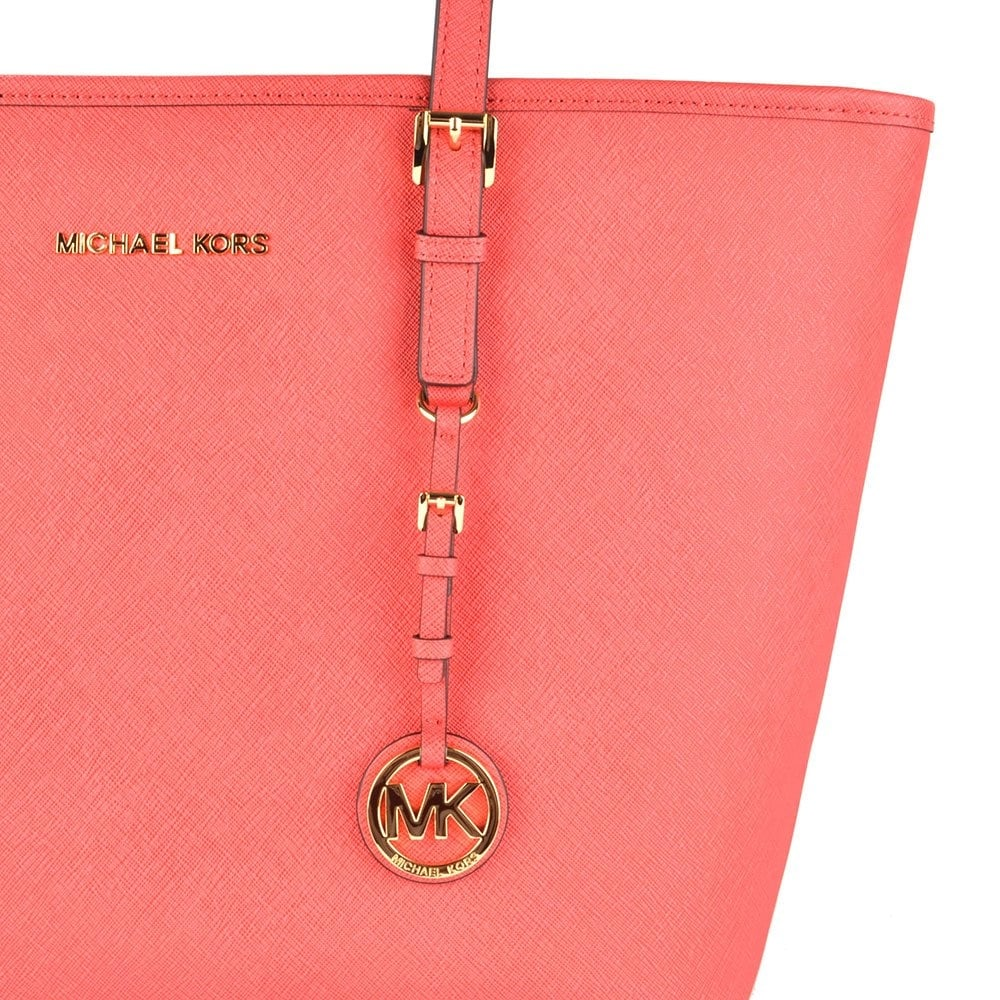 3e4ff694032982 MICHAEL by Michael Kors Jet Set Top Zip Watermelon Leather Travel ...