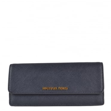 Jet Set Travel Admiral 'Navy' Flat Wallet