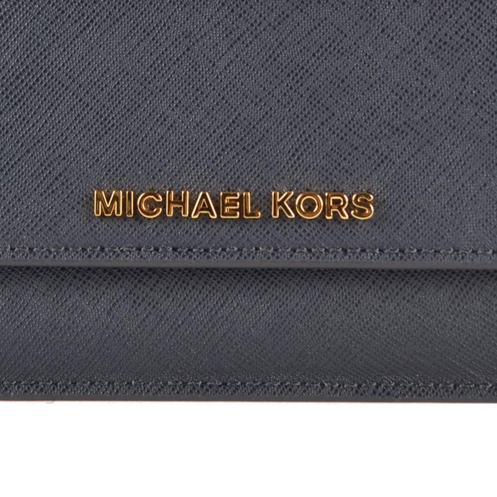 3a16aa5a3c7d5 MICHAEL MICHAEL KORS Jet Set Travel Admiral  Navy  Flat Wallet