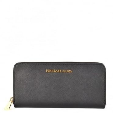 Jet Set Travel Black Continental Wallet