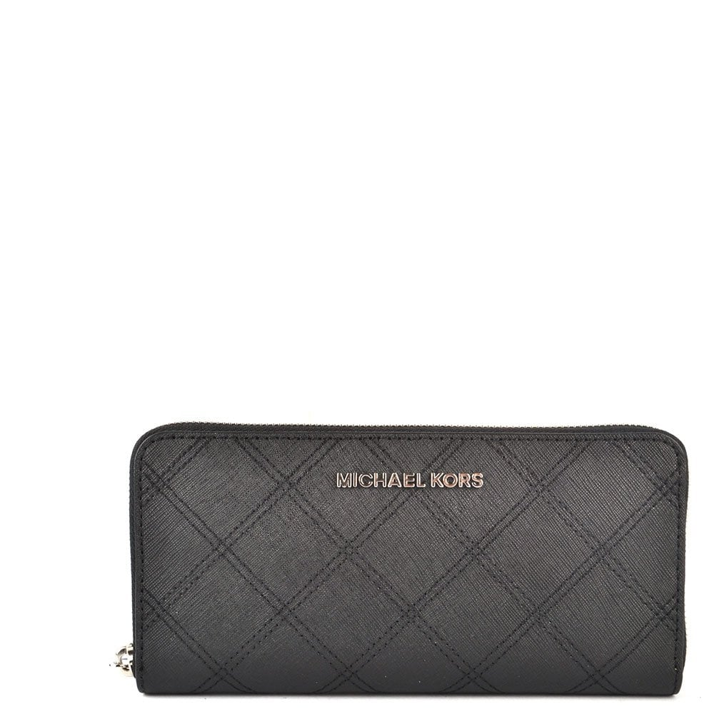 da0054b09b92 MICHAEL by Michael Kors Jet Set Travel Black Continental Wallet ...