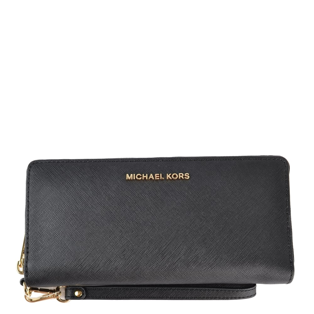 9fc0d4bd571040 MICHAEL by Michael Kors Jet Set Travel Black Continental Wallet