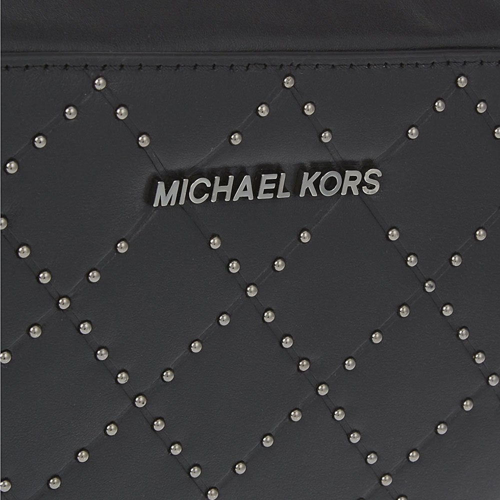 00b4f32fb4f7 MICHAEL by Michael Kors Jet Set Travel Black Large Quilted Crossbody ...