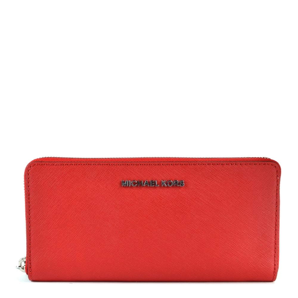 39a56b83db24 MICHAEL by Michael Kors Jet Set Travel Bright Red Continental Wallet