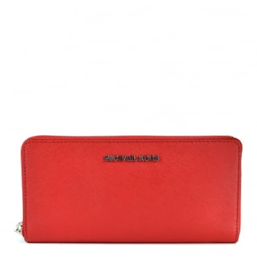 Jet Set Travel Bright Red Continental Wallet