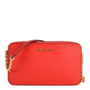 MICHAEL by Michael Kors Jet Set Travel Bright Red Crossbody Bag