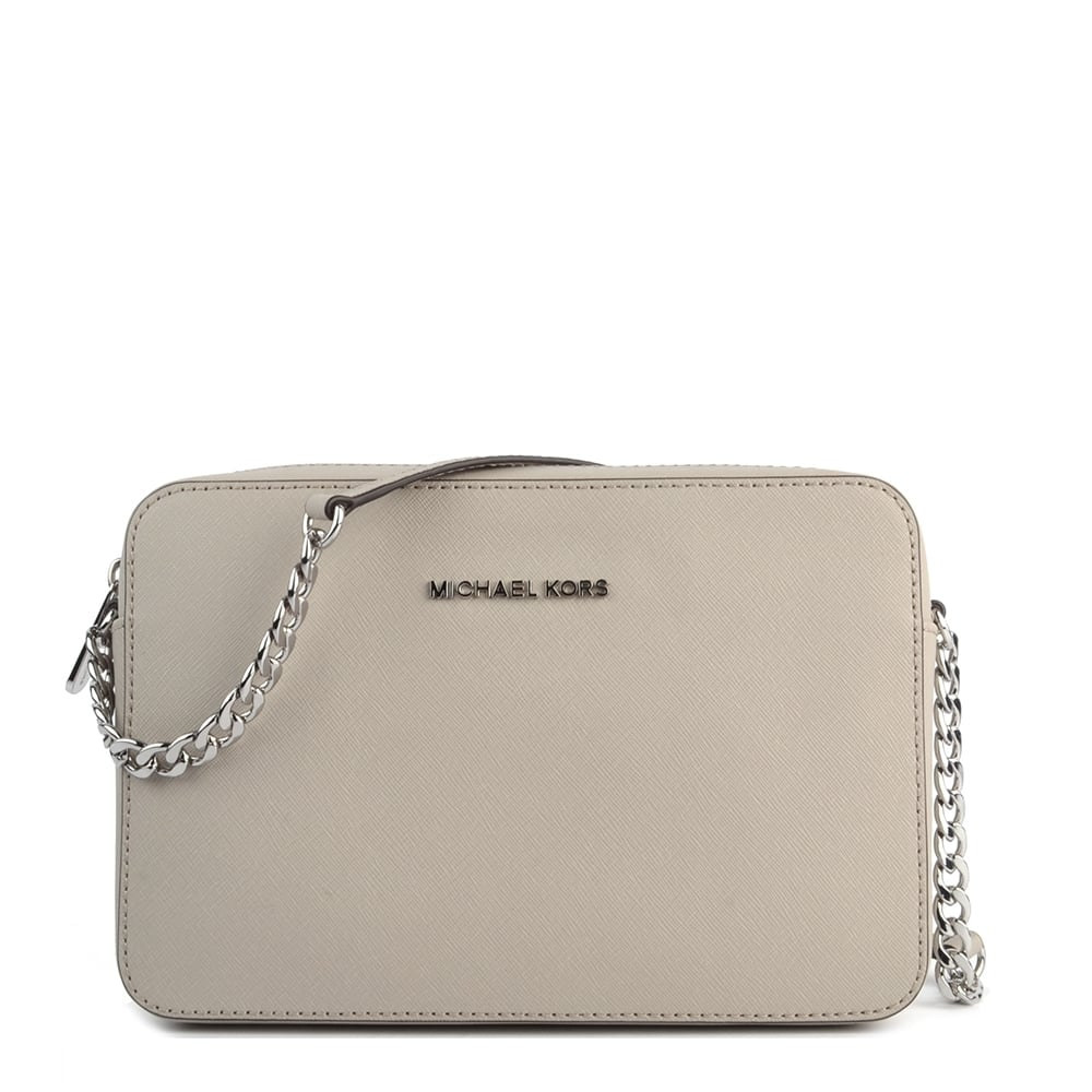michael michael kors jet set travel cement crossbody bag rh brandboudoir com