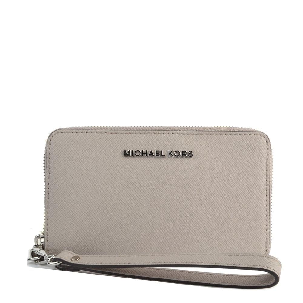 ebe32409310cf8 MICHAEL by Michael Kors Jet Set Travel Cement Multifunction Phone Case