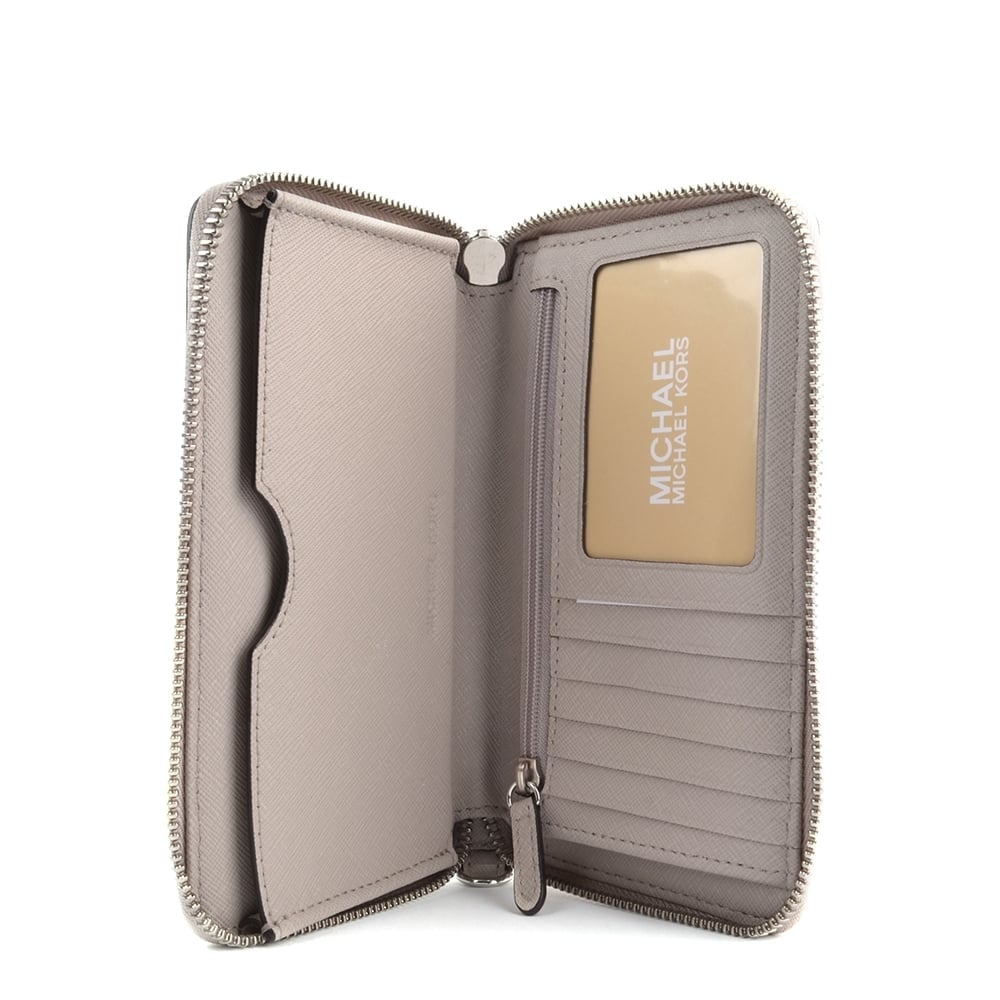 a643cccf11d7 MICHAEL MICHAEL KORS Jet Set Travel Cement Multifunction Phone Case