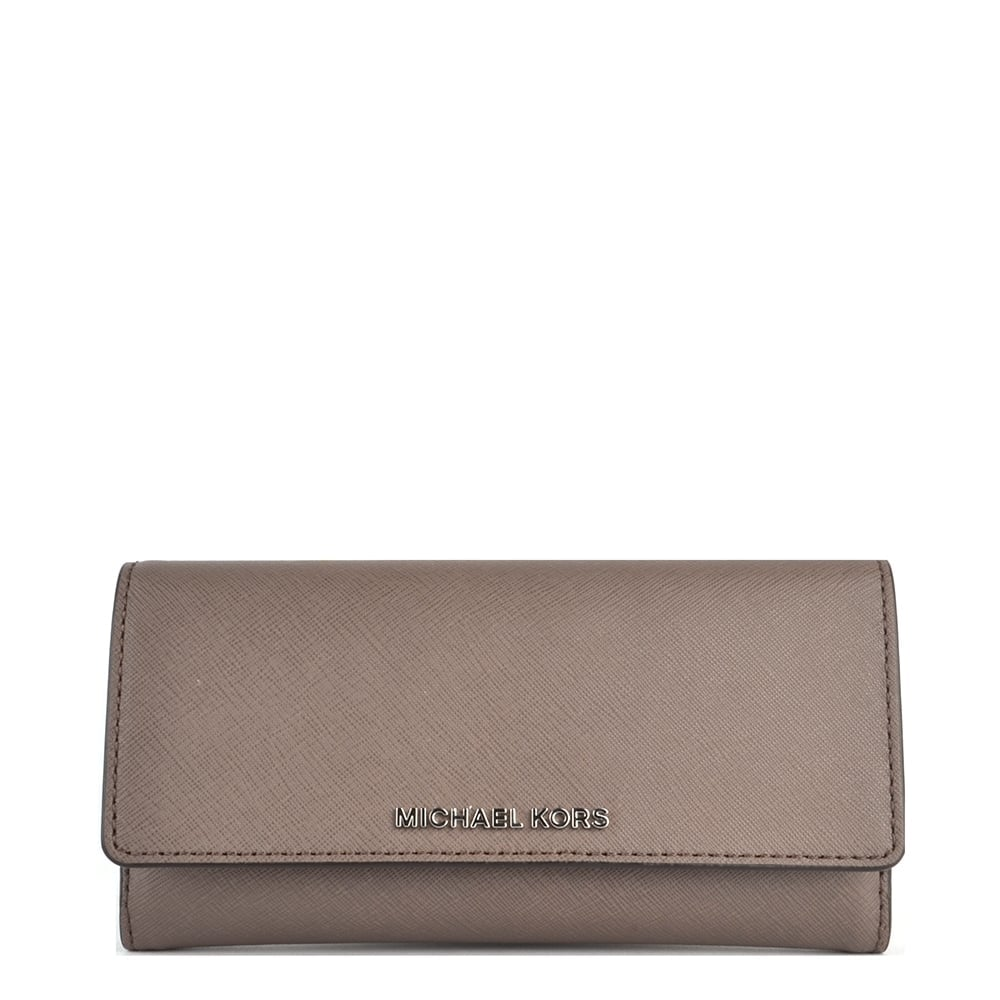 ba0aee1ba69c3 MICHAEL by Michael Kors Jet Set Travel Cinder  Brown  Tri-Fold Wallet