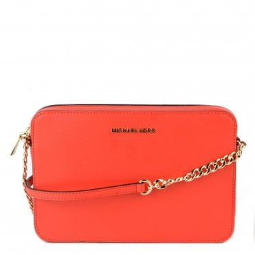 a52abdb186f4 Jet Set Travel Coral Saffiano Leather Large Crossbody · MICHAEL by Michael  Kors ...